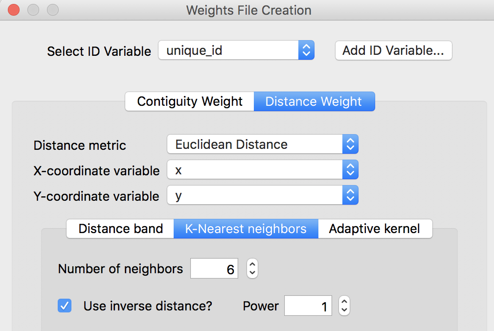 Spatial Weights as Distance Functions